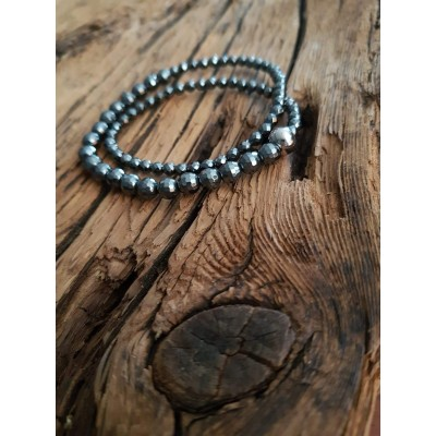 Bracelet Double Hématite Naturelle / Collection Boho Spirit