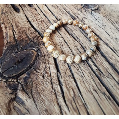 Bracelet L'incontournable Jaspe / Collection THE MAN/ Unisex