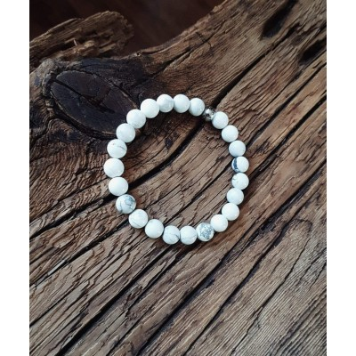 Bracelet L'incontournable Howlite / Collection THE MAN / Unisex
