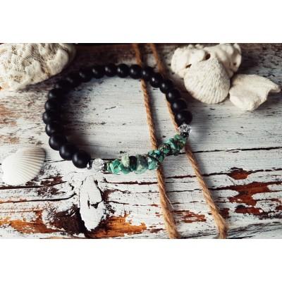 Bracelet Free Spirit en Noir/ Collection Méditerranéenne